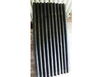 Black corrugated pliable roofing sheets