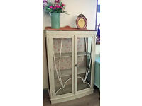 REDUCED ** Oak display cabinet - shabby chic