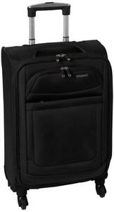 NEW American Tourister Ilite Max Softside Spinner 21 Carry On Luggage, Black