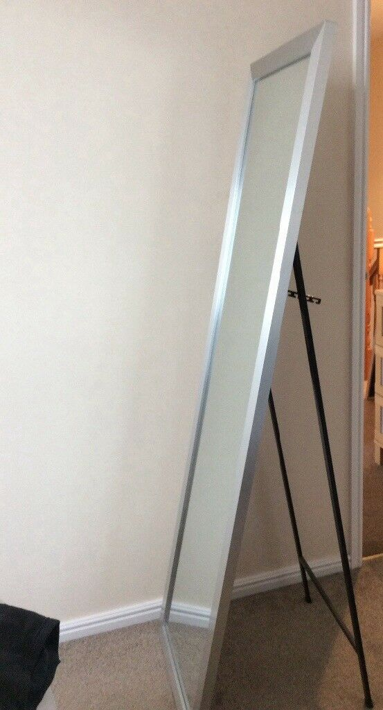 Two Floor standing mirrors. Silver colour frames.   in Taunton ...