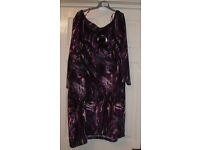 YOURS BRAND NEW PLUM DRESS SIZE 22/24