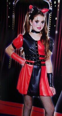 Girls HARLEQUIN Jester Medieval Renaissance Halloween Costume Purim TEEN Med NEW