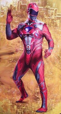 Mens RED Power Ranger Tight Bodysuit Halloween Purim Costume M XL 2XL XXL NEW - Halloween Costumes Red Power Ranger