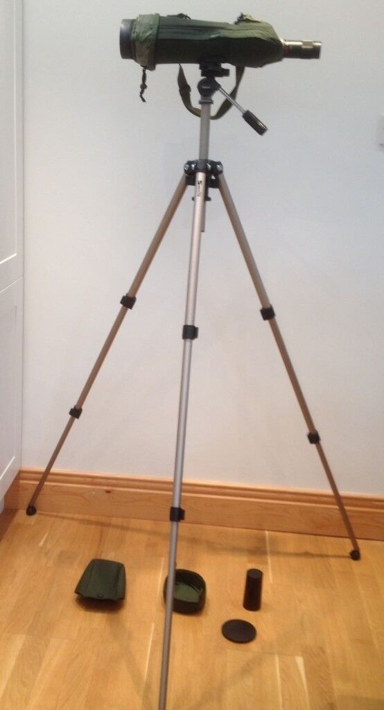 Telescope - Kowa TSN 824 with 20-60 zoom lens. Skua stay-on case. Velbon 600 tripod.