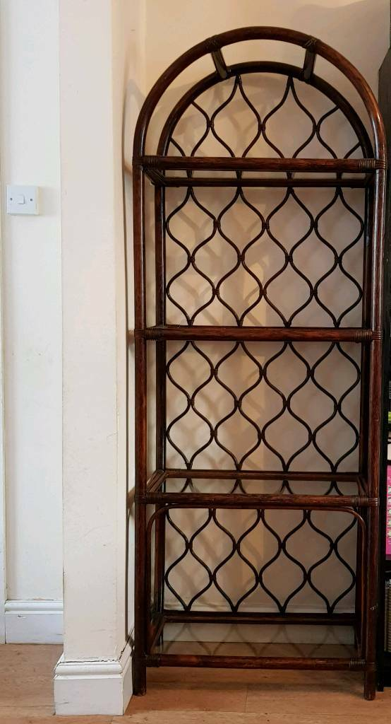*free* wooden unit with glass shelves