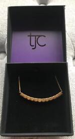 TJC Citrine 5 Carat Silver Adjustable Bracelet in Gold Overlay