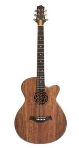 Free Shipping ! Acoustic Electric Guitar Unique style 40 inch Walnut iMG845EQ
