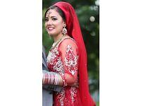 Red Asian/English Wedding Dress