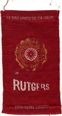 1910 Rutgers University Egyptienne Tobacco Cigarette Silk
