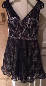 Prom/evening dress with coordinating shoes and bag