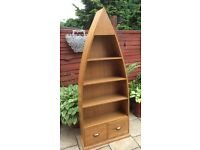 Oak Timber, Boat Shaped Book Case, New & Boxed