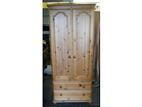 Two Door Pine Wardrobe from Corndell Furniture in good condition.
