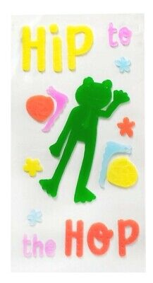 Happy Easter Spring Frog Window Gel Sticker Cling Decorations classroom decor - Spring Classroom Decorations