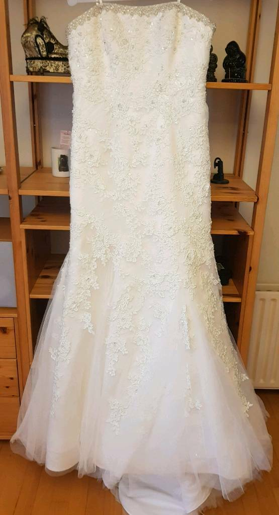 Ronald Joyce Paris Wedding Dress Size 16