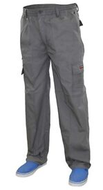 Two pairs Mens Mian Elasticated 7 Pockets Cotton Combat Cargo Work Loose Fit Trousers (XXL)