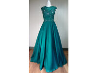 Elangancia Ltd Angel Forever Ladies Evening Party Christmas Prom Green Dress Sequins Size 8 - 12