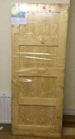 """Contemporary Pine 4 panel Internal door 2032mm X 816mm (""""80x32"""")"""
