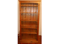 Beautiful tall wooden bookcase