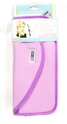New Evri Purple Hot Iron / Straightener Heat Resistant Mat Storage Carry Case