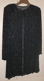 Elegant Sequin Tunic in Navy Blue