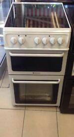 ***NEW Hotpoint 50cm wide electric cooker for SALE with 1 year warranty ***