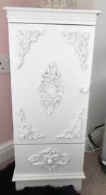 White baroque style cabinet