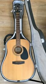 Cort Electro-Acoustic Guitar, model AD810E with optional Cort Hard Case