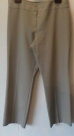 Stone coloured ladies M&S (short) size 14 trousers