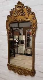 Antique Gilt Framed Wall Mirror (DELIVERY AVAILABLE)