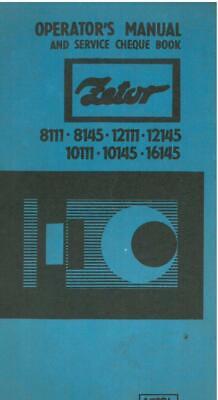 Zetor Tractor 8111 8145 10111 10145 12111 12145 16145 Operators Manual, używany na sprzedaż  Wysyłka do Poland