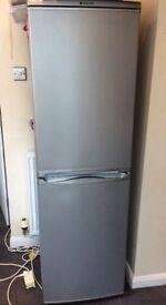 HOTPOINT silver fridge freezer