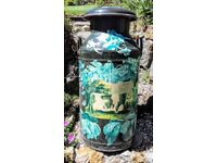 Vintage decorated milk churn