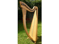 Camac Aziliz Lever Harp 34 String Fantastic Condition, with carry bag, tuning key and dust cover.