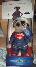 Official Superman Meerkat stuffed toy