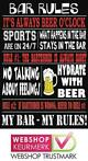 Cafe Pub Bord / Wandbord - Bar Rules