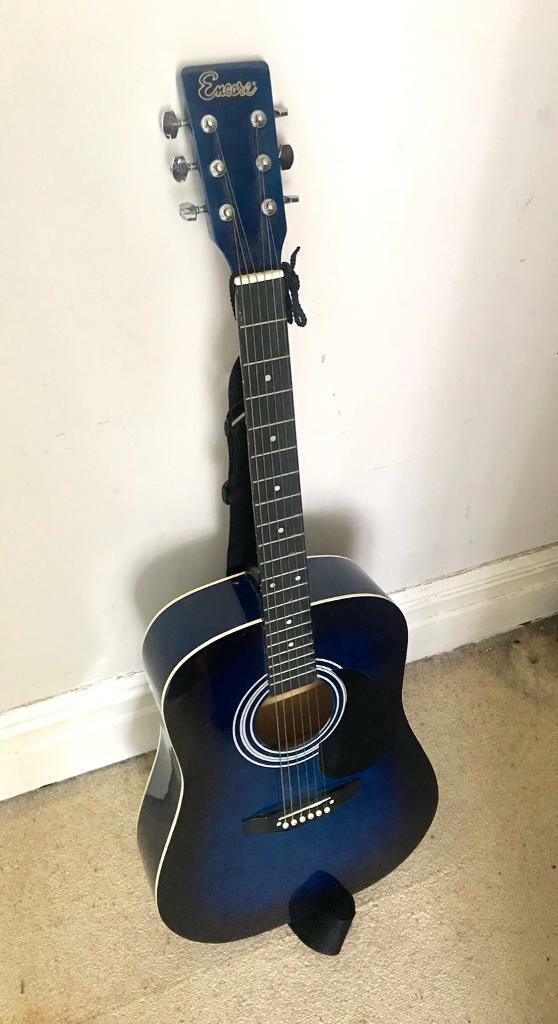 Encore Acoustic Guitar EN155 Blue | in Edgbaston, West Midlands | Gumtree