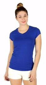 V-Neck Cotton T-Shirt Royal Blue