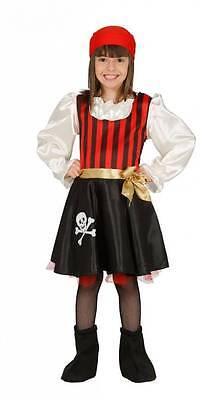 Piratenkostüm für Kinder Mädchen - komplettes Piratin Kostüm - 83196-83199