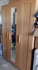 IKEA Brimnes 3 Door Oak Effect Wardrobe