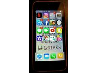 pink apple i phone 5c mobile phone vodaphone network