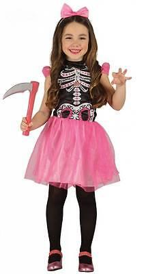 chen Rosa - komplettes Skelett Kostüm Kinder 85497-85500 (Skelett Mädchen Kostüm)