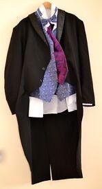 Gentlemans Complete Quality Aristocrat Outfit, Top Hat, Tails, Dress Shirt, Bow Tie, Waist Coat etc