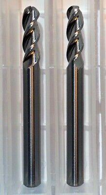 14 Dia X 34 Cut Alumacut 3 Flute Ball Carbide End Mill Aluminum 2-pk Usa F25