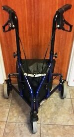 DRIVE LIGHTWEIGHT BLUE ALUMINIUM 3 WHEELED MOBILITY WALKING AID