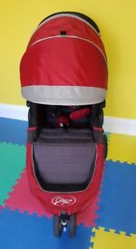 Baby jogger crimson pushchair