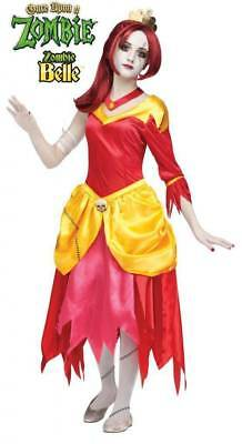 Girls ZOMBIE BELLE Once Upon a Zombie Halloween Costume Size 12-14