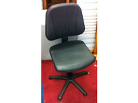 black office chair adjustable height