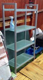 Glass John Lewis shelving unit