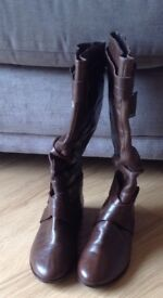 Ladies Brown Leather Boots size 4 from Next