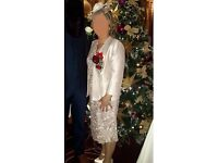 Champagne Mother of the Bride Outfit Size 10 / 12 INCLUDES Dress, Jacket & Hat - House of Frazer